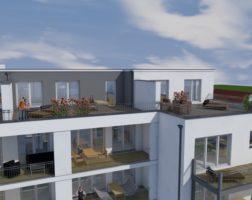 3-Zimmer-Penthouse mit großer Dachterrasse